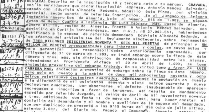 Almería: más pelotazos en Torrecárdenas