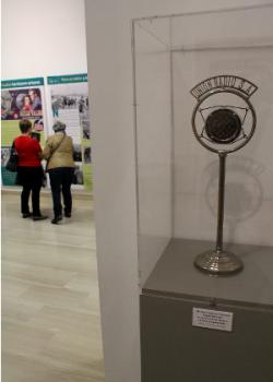 El micrófono usado por Queipo de llano en sus alocuciones.