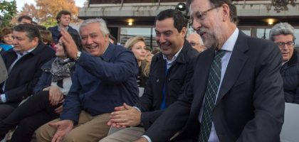 Rajoy Arenas bonilla contentos mitin web