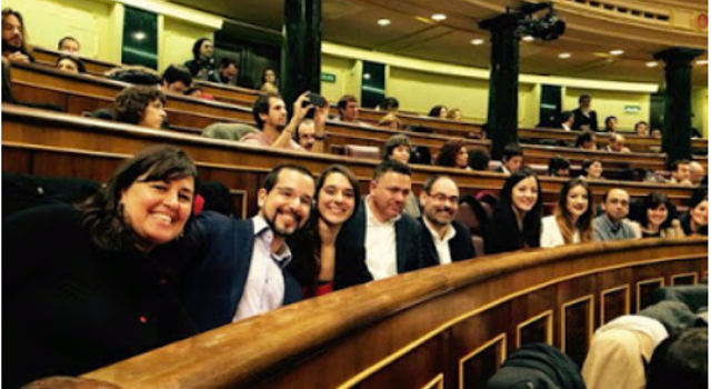 Diputados andaluces de Podemos en Madrid web
