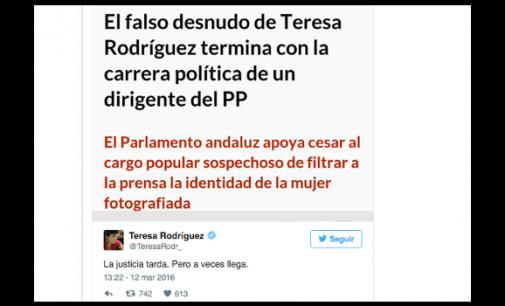 Y el PP se tragó el falso desnudo de Teresa Rodríguez