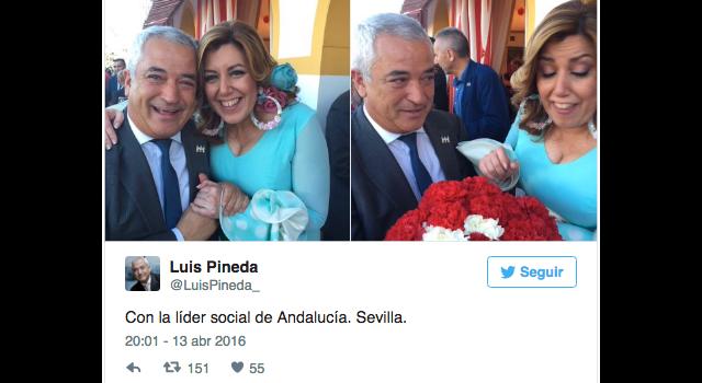 Twit de Luis Pinera con Susana Diaz web
