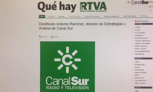 Destituido el Director de Antena de Canal Sur TV