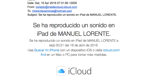 alerta iPad Caso nazarí web