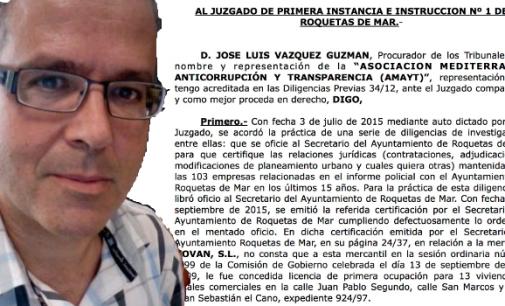 """El secretario municipal de Roquetas no encuentra empresas de la """"Trama Amat"""""""