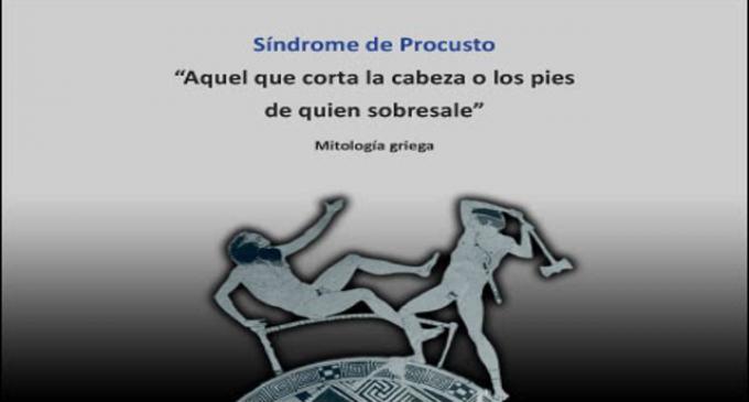 La politica española y el síndrome de Procusto