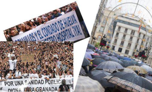 Granada, Huelva y Málaga se echan a la calle en demanda de una sanidad digna