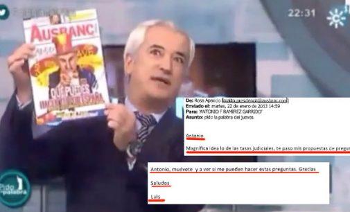 Luis Pineda dictaba a Canal Sur TV lo que debían preguntarle en su 'debate' estrella