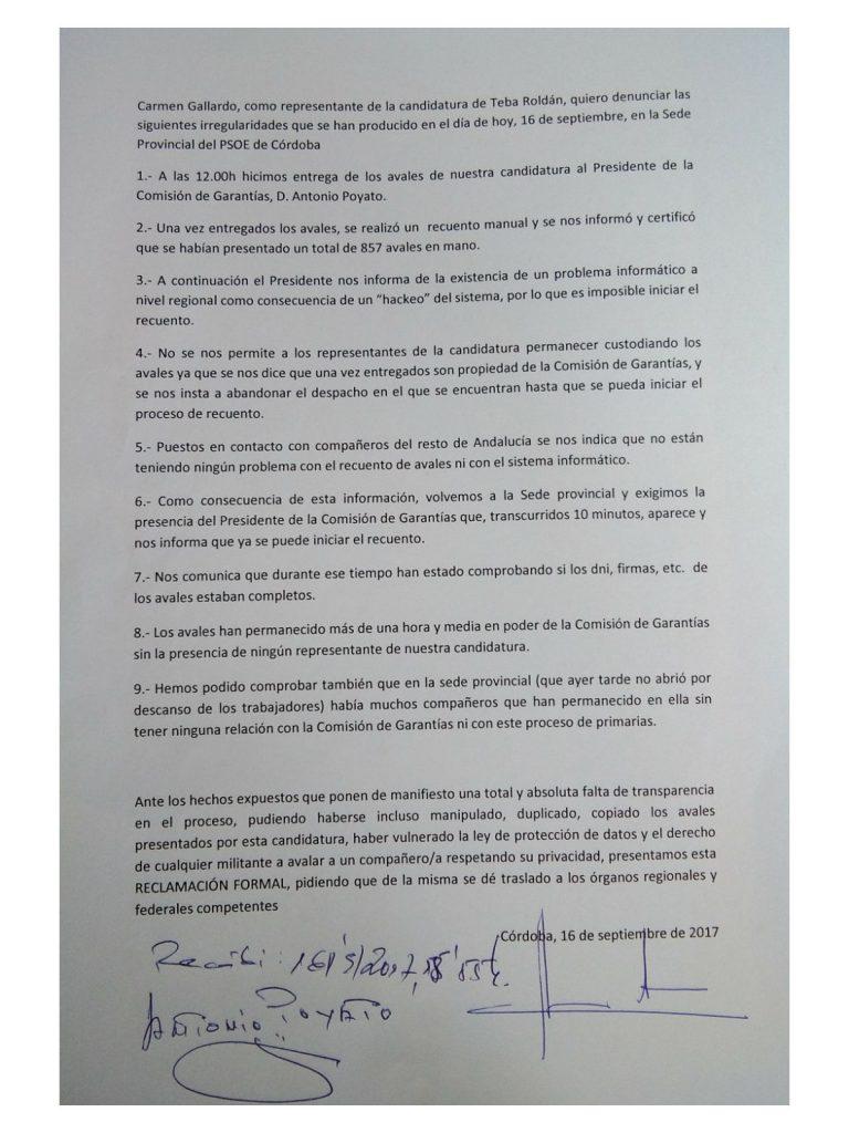 Reclamacion_Psoe_Cordoba_Primarias