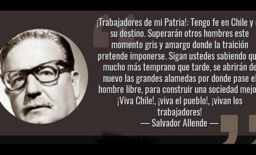 En homenaje al presidente Allende
